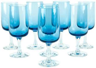 One Kings Lane Vintage Vintage Crystal Wine Glassware Set 8 Pcs - La Maison Supreme
