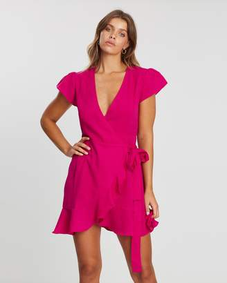 Atmos & Here ICONIC EXCLUSIVE - Magenta Wrap Dress