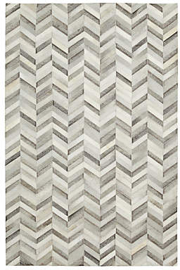 At John Lewis And Partners Cowhide Chevron Rug