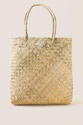 francesca's Large Kiara Palm Tote - Natural