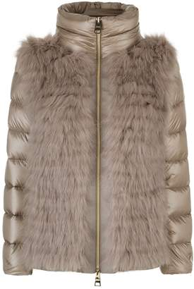 Herno Fox Fur Front Padded Coat
