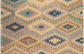 One Kings Lane Merolla Hand-Hooked Rug - Teal