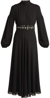 Giambattista Valli Bead-embellished wool-blend maxi dress