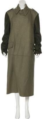 Alexander McQueen Wool Long Coat w/ Tags