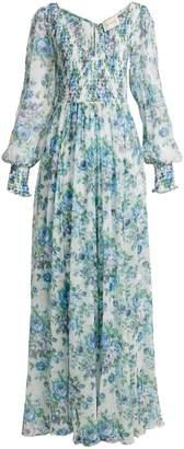 Zimmermann Whitewave shirred silk dress