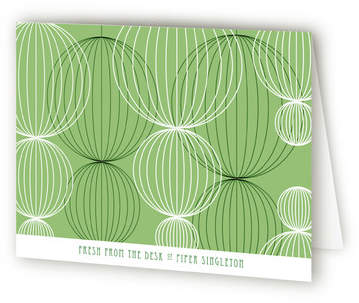 Pom Modern Folded Personal Stationery