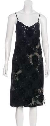 Dries Van Noten Semi-Sheer Silk Midi Dress w/ Tags