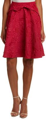 Eva Franco Brocade A-Line Midi Skirt