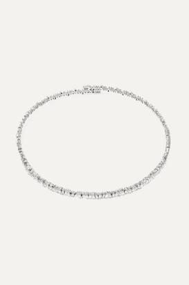 Suzanne Kalan 18-karat White Gold Diamond Choker