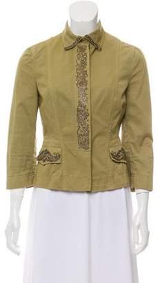 Philosophy di Alberta Ferretti Embellished Point Collar Jacket