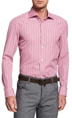 Kiton Men's Multi-Stripe Dress Shirt