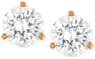 Swarovski Gold-Tone Crystal Stud Earrings