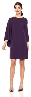 Anne Klein Women's Crepe Cape Sheath Dress
