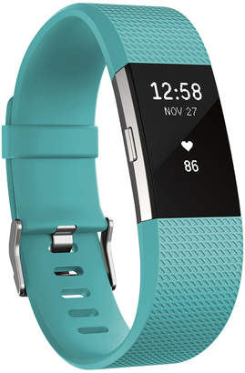 Fitbit Charge 2 Heart Rate + Fitness Wristband (Teal/Silver) - Small