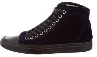 Maison Margiela Velvet High-Top Sneakers