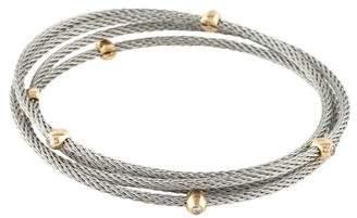 Diamond Station Coil Bracelet