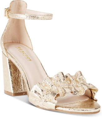 Kenneth Cole Reaction Women's Rise Ruffle Block-Heel Sandals Women's Shoes