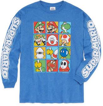 Nintendo Long Sleeve Crew Neck T-Shirt Boys