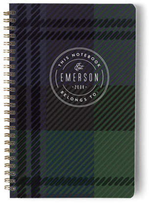 Black Watch Emblem Day Planner, Notebook, or Address Book