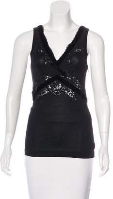 Dolce & Gabbana Sleeveless Lace-Accented Top