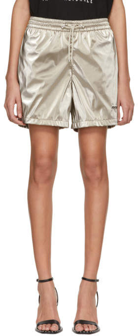 Beige Sport Track Shorts