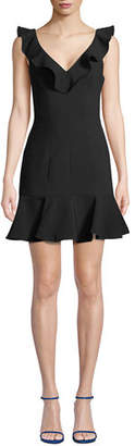 LIKELY Harlow Sleeveless Ruffle Mini Dress