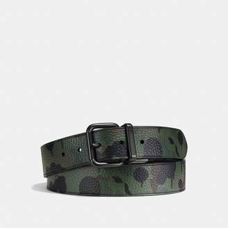 Coach Jeans Buckle Cut-To-Size Reversible Wild Beast Print Belt