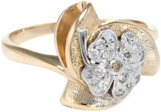 One Kings Lane Vintage Four Leaf Clover Diamond Ring - Precious & Rare Pieces