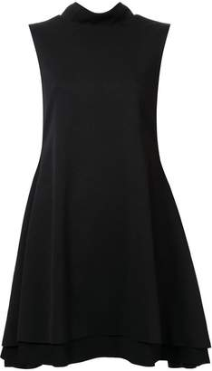 Rob-ert Robert Wun flared high collar dress