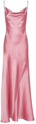 Alessandra Rich Silk Slip Dress with Crystal Straps
