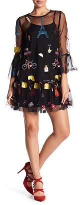 Gracia Embroidered Mesh Dress