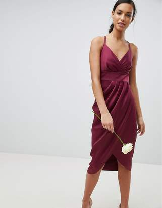 Ted Baker Tie The Knot Drape Midi Bridesmaid Dress