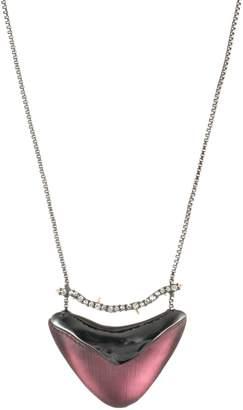 Alexis Bittar Crystal Encrusted Bar & Shield Pendant Necklace