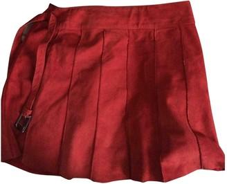 Oakwood Red Denim - Jeans Skirt for Women