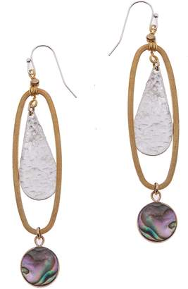 Nakamol Design Oval Abalone Drop Earrings