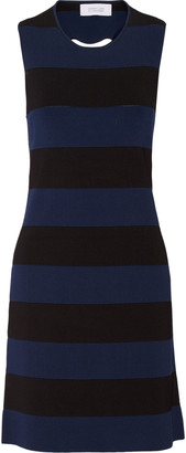 Derek Lam 10 Crosby Cutout striped knitted mini dress $495 thestylecure.com