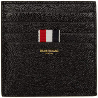 Thom Browne Black Double-Sided Card Holder