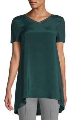 St. John Silk Jersey T-Shirt