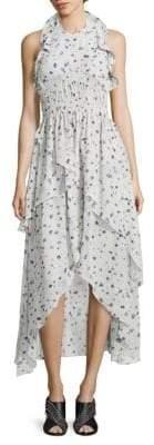 IRO Jessy Ruffled Floral-Print Halter Dress