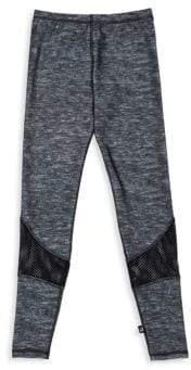 Terez Girl's Heathered Mesh Inset Pants