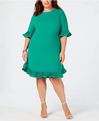 b3db0824db4 Alfani Plus Size Pleated Flounce Dress
