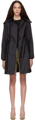 Burberry Black Car Rain Coat