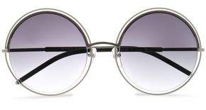 Marc Jacobs Round-Frame Acetate And Silver-Tone Sunglasses