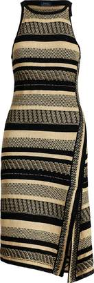 Ralph Lauren Linen-Cotton Wrap Dress