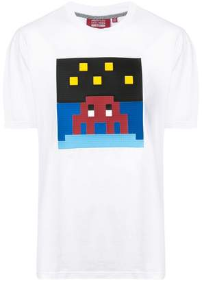 Mostly Heard Rarely Seen 8-Bit Night sky T-shirt