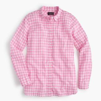 J.Crew Tall classic-fit boy shirt in crinkle gingham