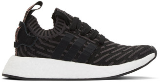 adidas Originals Black NMD R2 PK Sneakers $170 thestylecure.com