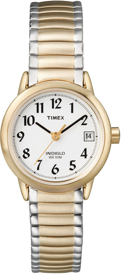 TimexTimex Watch, Women's Two Tone Stainless Steel Bracelet 25MM T2H381UM