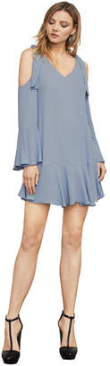 BCBGMAXAZRIA Ellyson Cold-Shoulder A-Line Dress