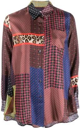 Alberto Biani multi-panel silk shirt
